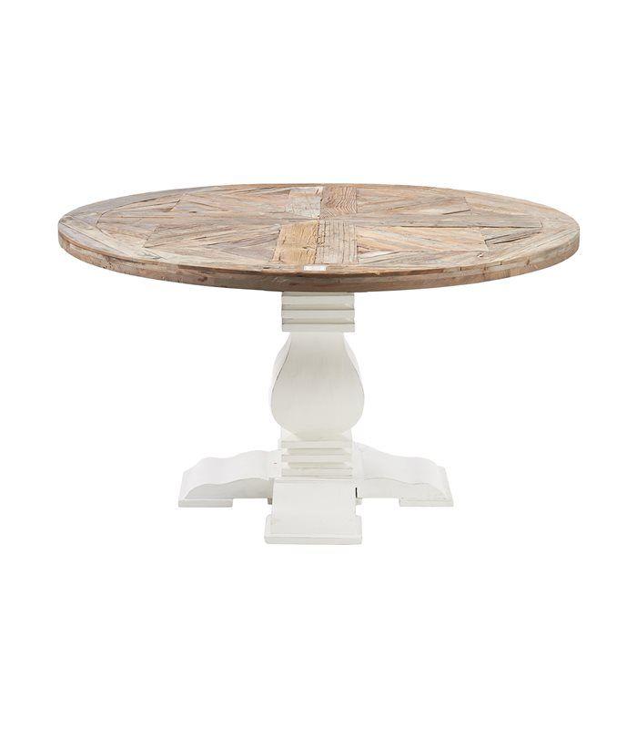 Mesa de comedor redonda en blanco y marrón. | New air at home | Mesa ...
