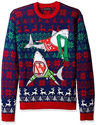 Blizzard Bay Mens Sharks In Sweaters Crew Neck Ugly Xmas At Amazon