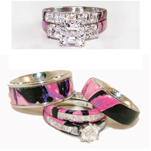 Womans Camo Womens Wedding Rings For An Unusual Bridal Moment