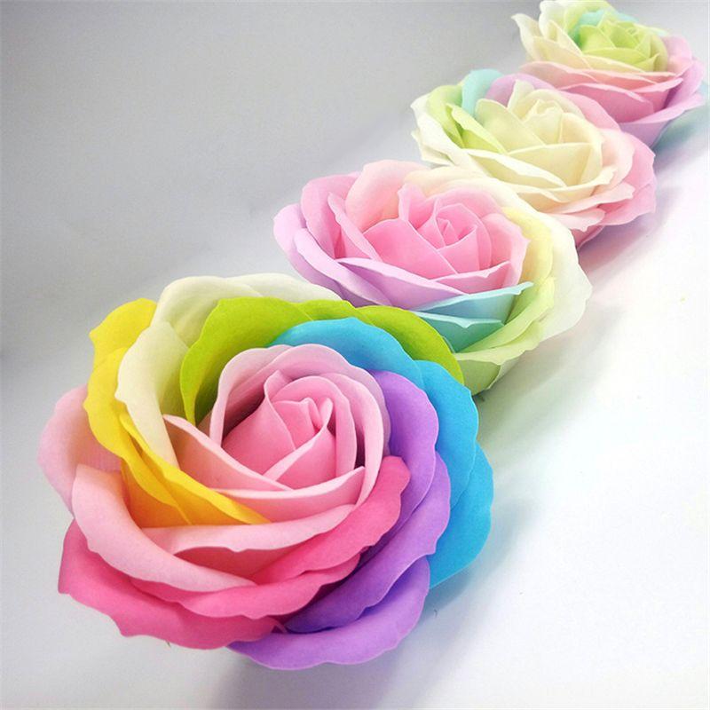 Colore En Forme De Coeur Rose Savon Fleur Romantique Cadeau De Fete