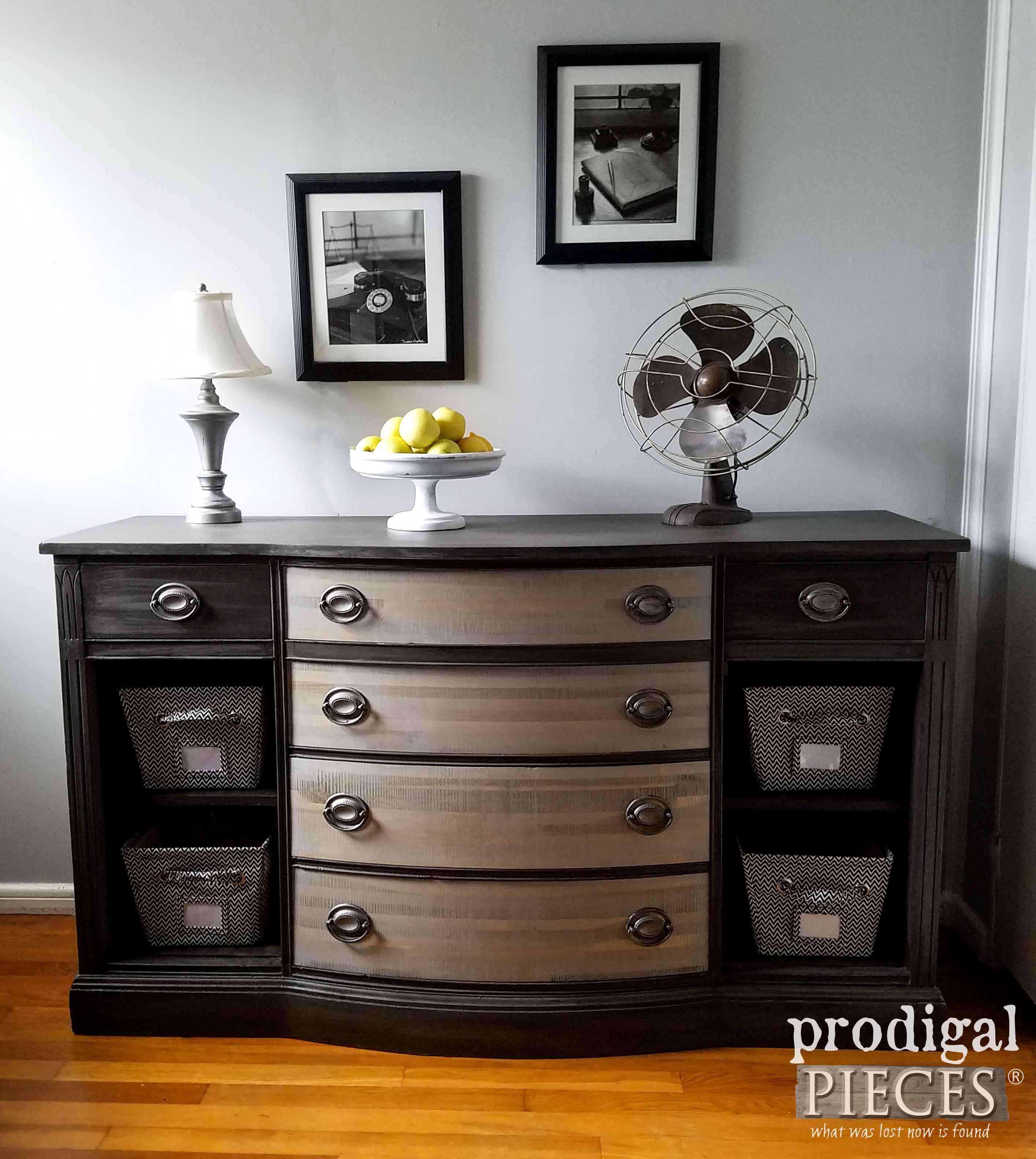 Bon Furniture Redo · Vintage Buffet Gets Modern Chic Makeover ...