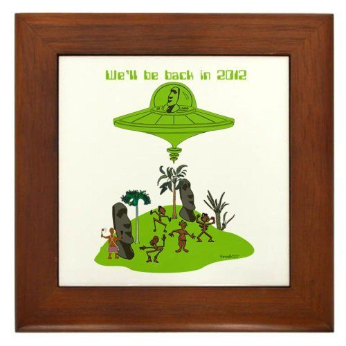 "2012 Humor Framed Tile by CafePress by CafePress. $15.00. Frame measures 6"" X 6"" x 0.5"" with 4.25"" X 4.25"" tile. 100% satisfaction guarantee return policy. Two holes for wall mounting. Rounded edges. Quality construction frame constructed of stained Cherrywood. Framed Tile"