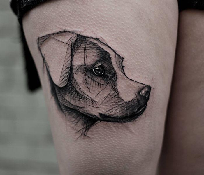 20 id es de tatouages inspir s par nos amis les chiens arts tattoos pinterest tatouages. Black Bedroom Furniture Sets. Home Design Ideas