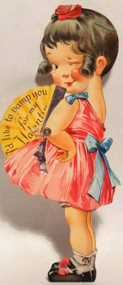 cards Vintage mechanical valentine