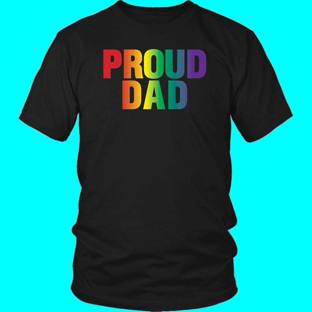 Pin on Proud Dad LGBT parent TShirt
