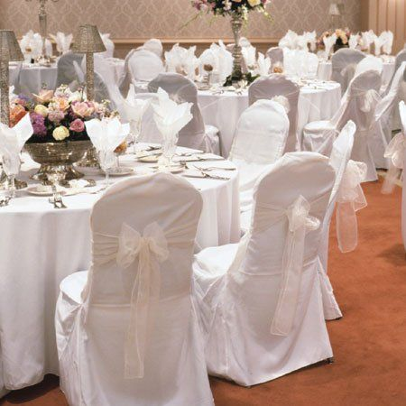 New Wedding Polyester Chair Covers Banquet Style Round Top Type