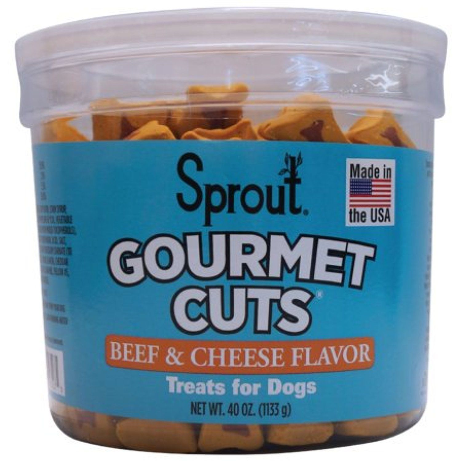 Top Seller Sprout Dog Treats | 40 oz. | Made in USA (Beef & Cheese ...