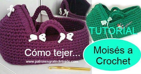 Cómo tejer moisés o cesta para bebés paso a paso en español y en ...