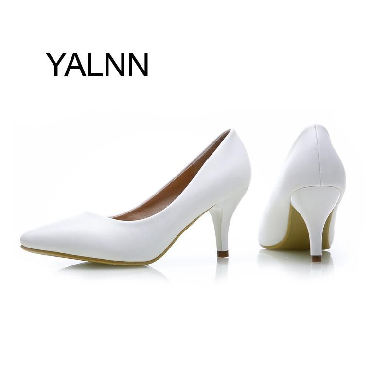 31d70f6f28d YALNN Fashion New High Heels Pumps Black Women Shoes Pump Girls ...