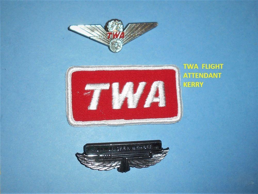 TWA AIRLINES LOGO RED HAT CAP PATCH JUNIOR JR PILOT FLIGHT