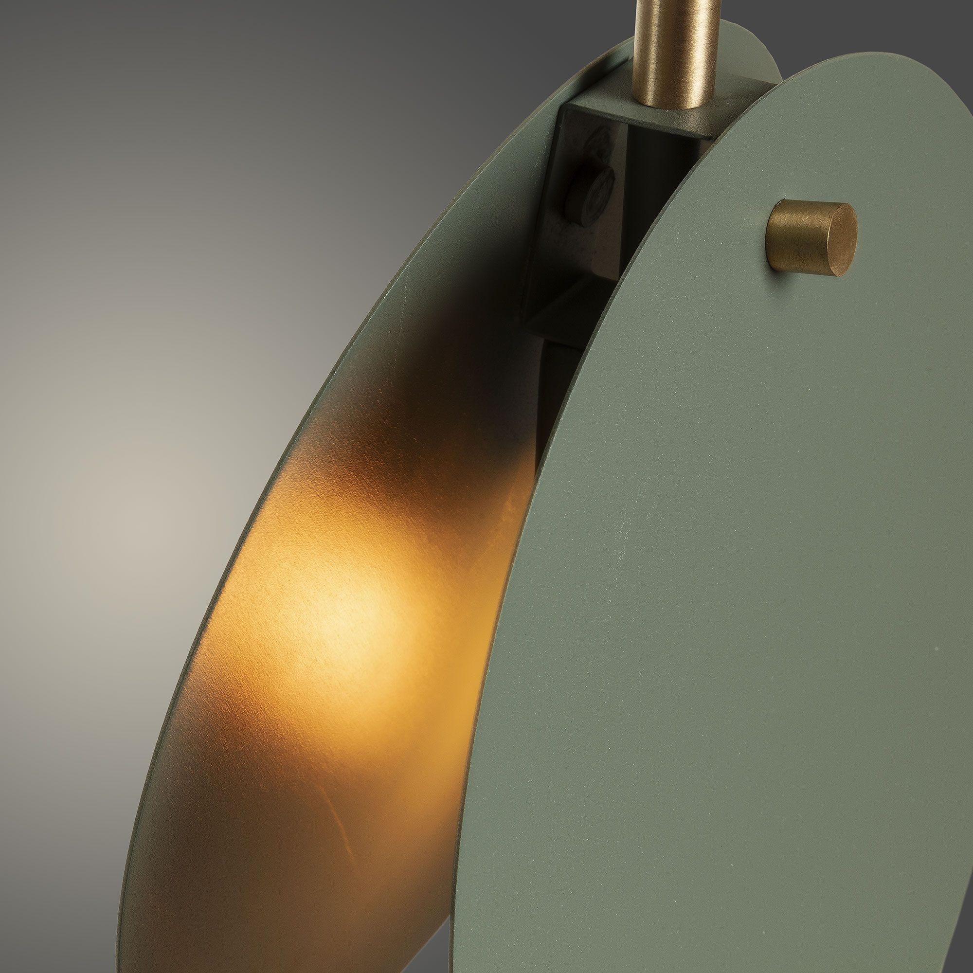 Kave Home Lámpara de techo..., en Metal - Verde #gedecktertisch