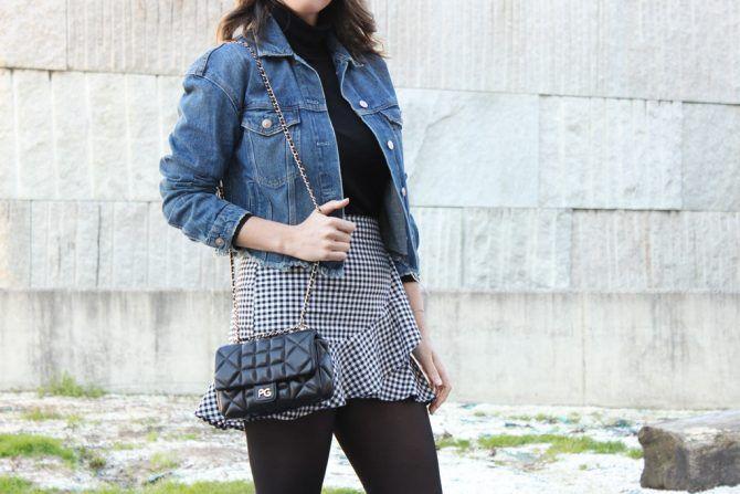 076a95730 Street style vichy. Como combinar tu falda de cuadros vichy ...
