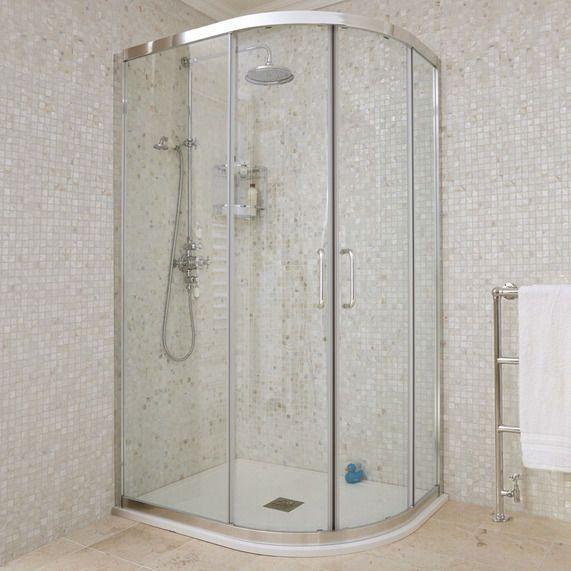 Atlas Offset Quadrant Sliding Door Shower Enclosure Sliding