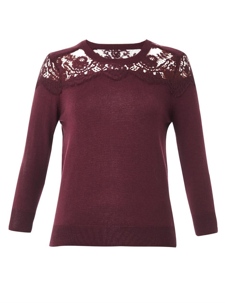 Erdem Manon lace-insert cashmere sweater | Erdem | Pinterest ...