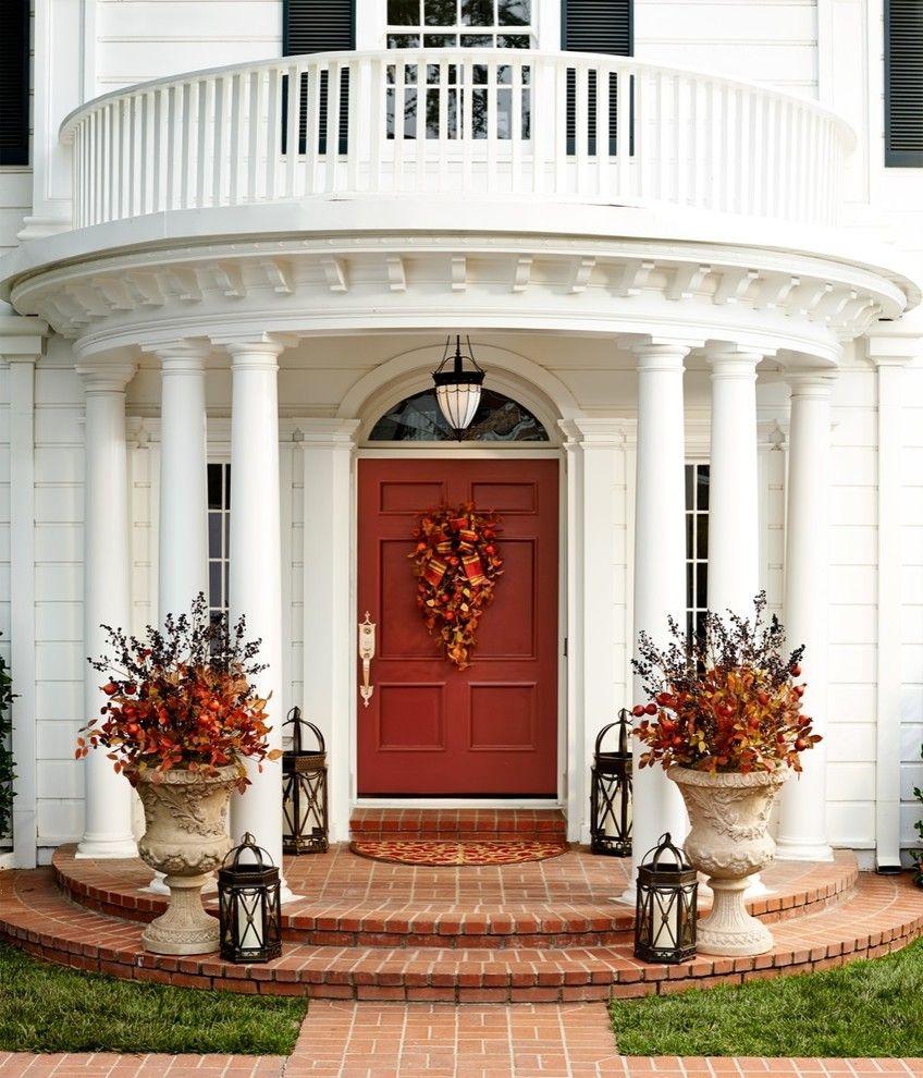 67 Cute And Inviting Fall Front Door Décor Ideas door decor - halloween front door decor