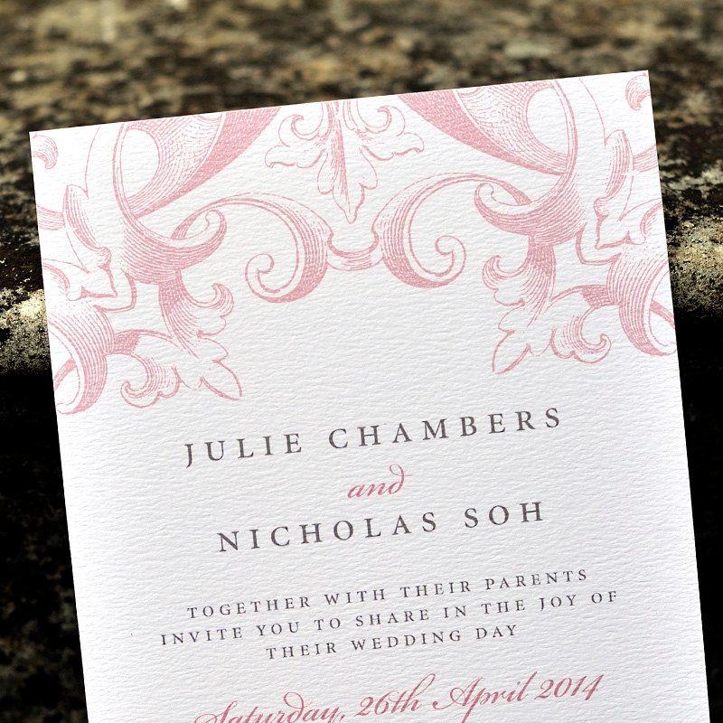 Vintage Wedding Invitation / \'Victorian\' Calligraphy Wedding ...