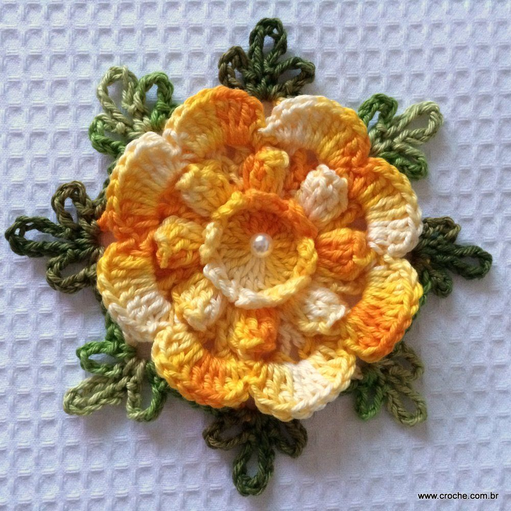Flor Carisma Passo A Passo Beautiful Flowers Crochet Flowers And