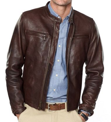 Steal His Style Michael Buble Brown Leather Jacket Men Leather