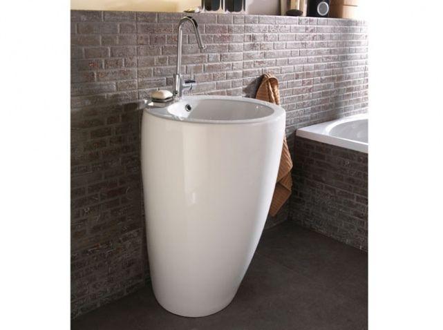 Lavabo Totem Blanc Castorama Idées Maison Pinterest - Lavabo salle de bain castorama