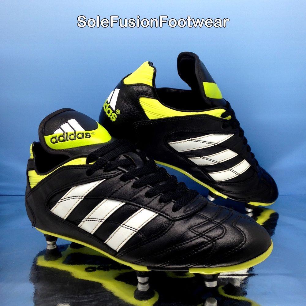 462f34f10 adidas Mens Athens Liga Football Boots Black sz 7 US 7.5 EU 40 2/3 VINTAGE  1997 | eBay