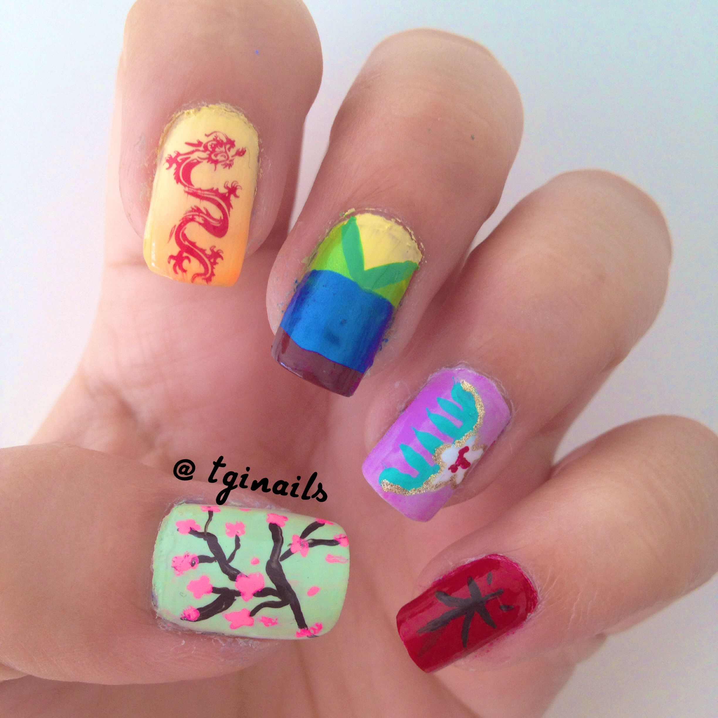 Mulan Nails | Disney | Pinterest