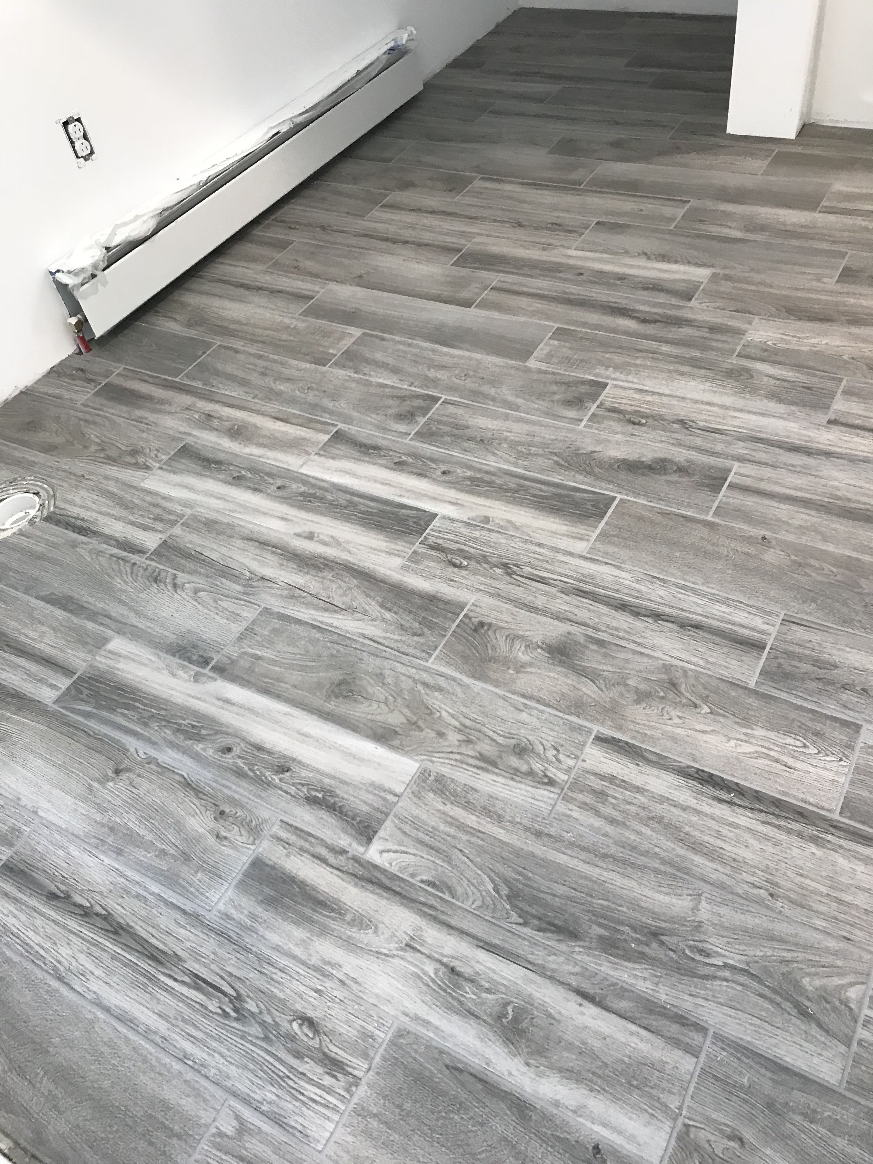 Lifeproof Shadow Wood 6 In X 24 In Porcelain Floor And Wall Tile