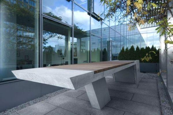 beton esstisch outdoor