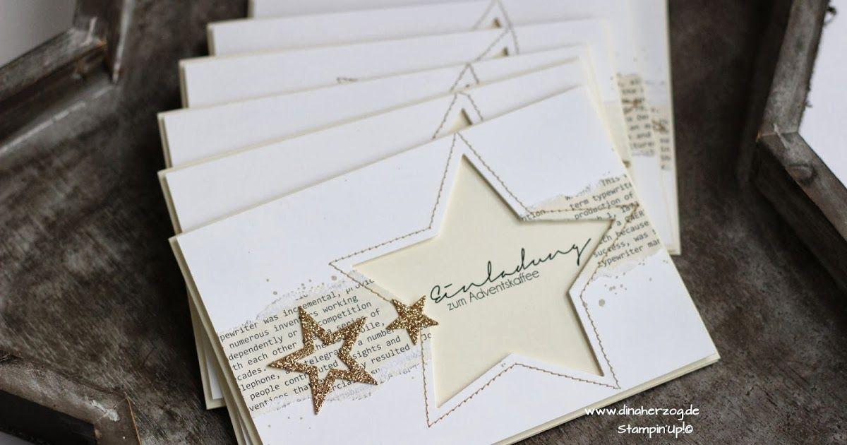 Schönes aus Papier handgemacht!: Einladung zum Adventskaffee