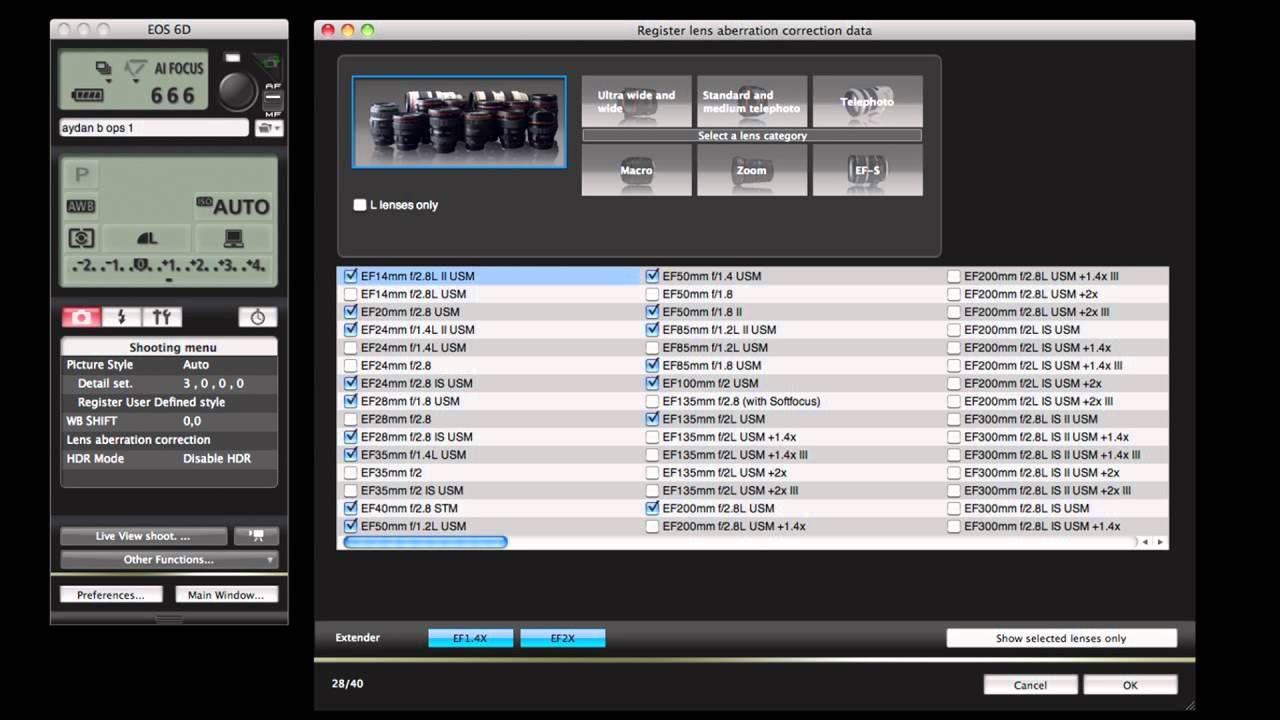 Canon eos 6d oncamera tutorials image quality camera