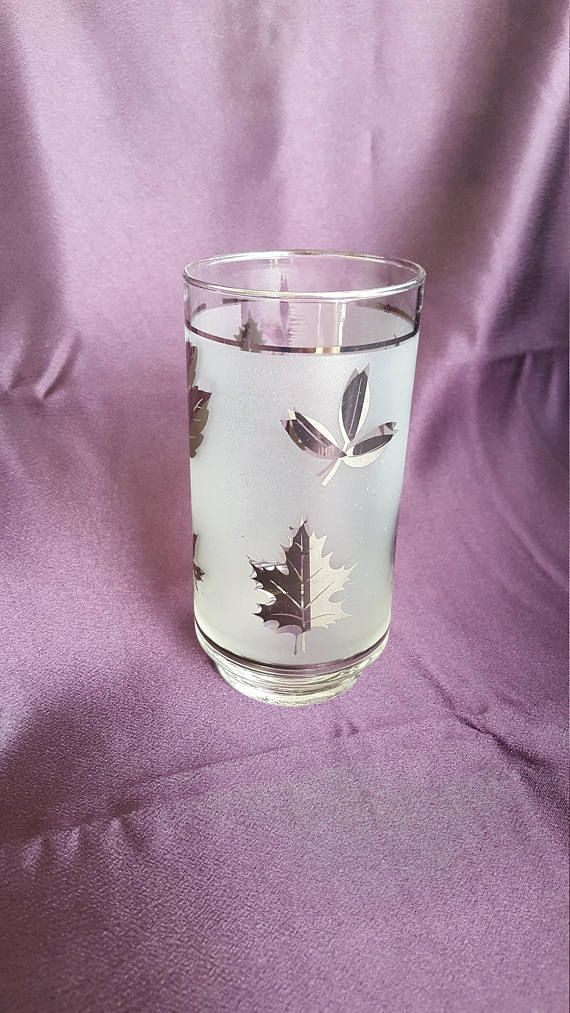 Check out this item in my Etsy shop https://www.etsy.com/listing/538957131/vintage-libbey-silver-leaf-frosted-glass