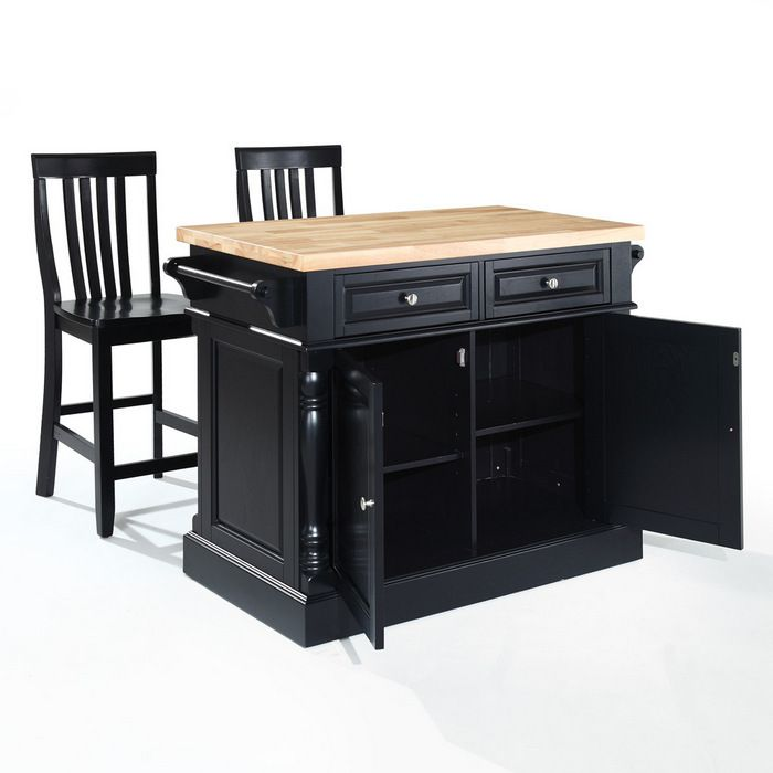 freestanding+kitchen+island Freestanding and Moveable Kitchen Island with Maple Butcher Block ...