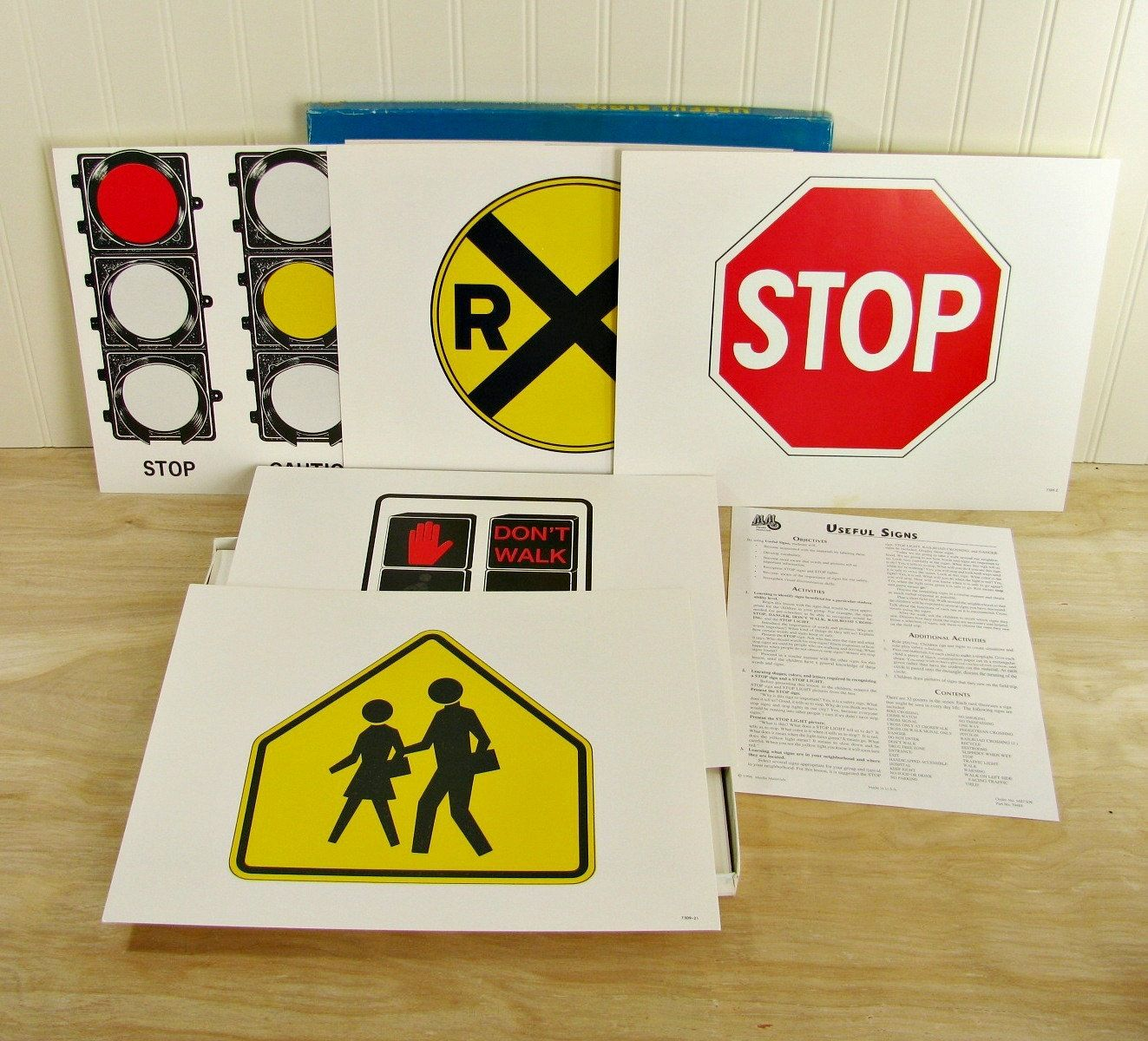 Vintage Signs Flash Cards Traffic Sign Cards Safety
