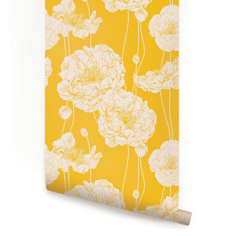 Pin By Laura Ray On Colors Peony Wallpaper Wallpaper Panels Peel And Stick Wallpaper