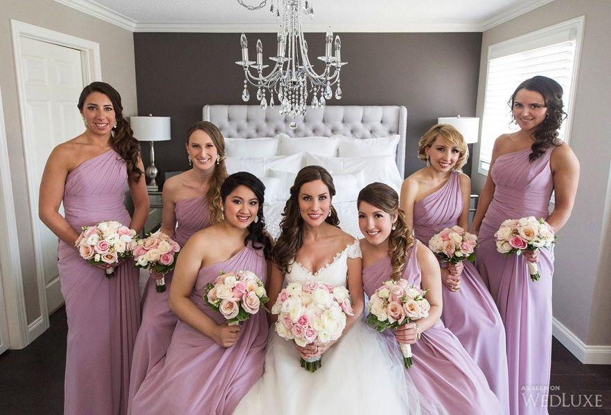Beautiful lavender bridesmaid gowns | Photography By: Studio 2000 Photography + Cinema | Wedluxe Magazine #wedding #luxury #bridesmaids #weddinginspiration #bridesmaidgowns #lavender