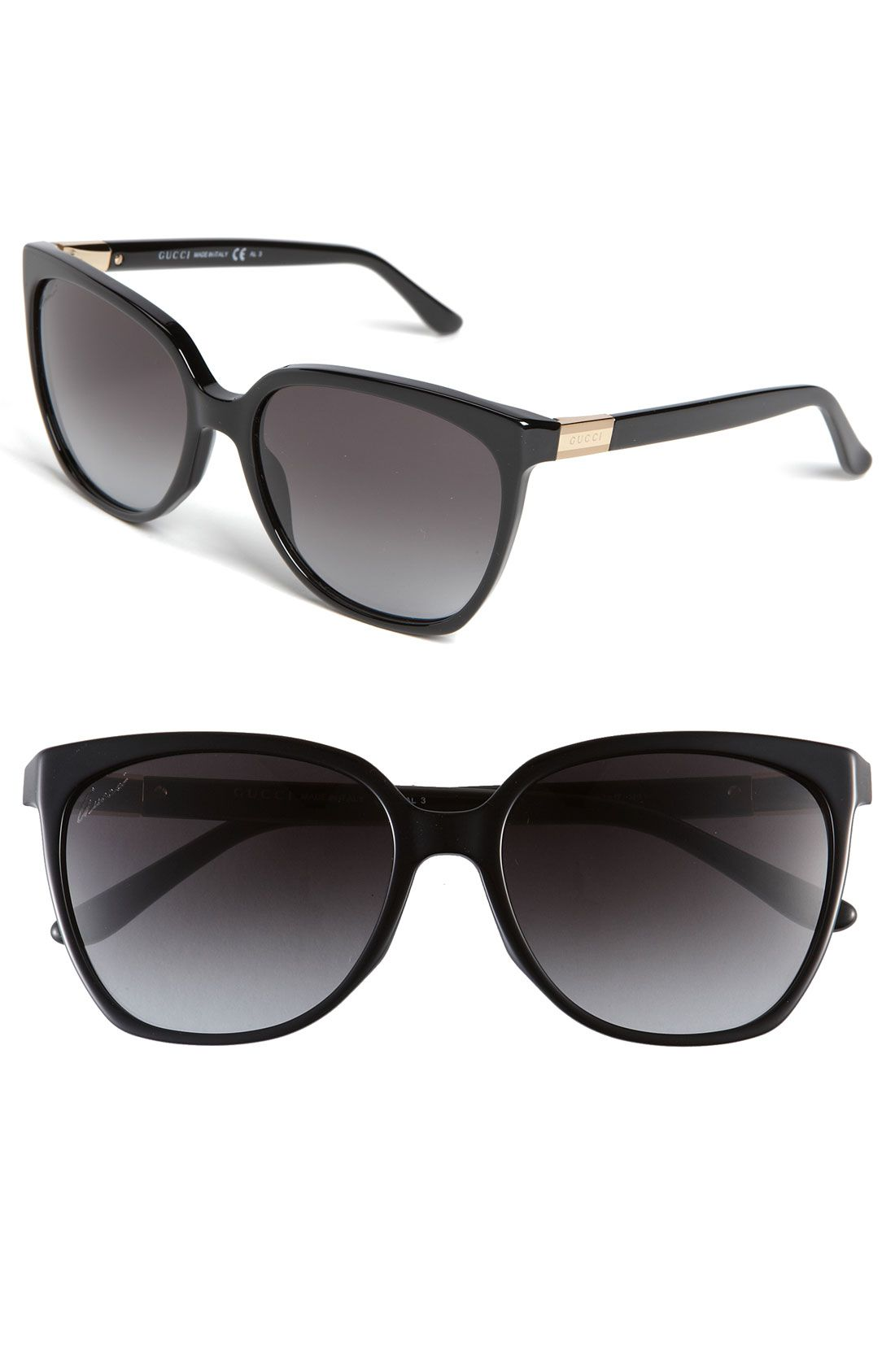 0939df6f0026e Gucci 57mm Oversized Sunglasses - black OR havana  )