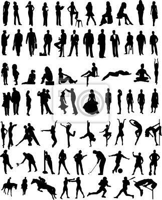 Sablona Pro Kresbu Postavy V Pohybu Hledat Googlem Silhouettes