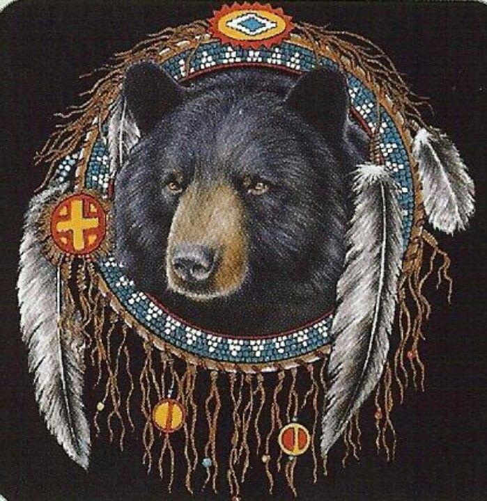Bear dream catcher Bear totem, Indian animals, Native