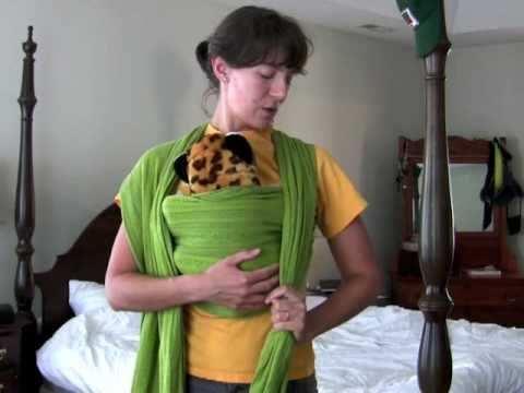 Turn A Long Shawl Or Scarf Into A Baby Carrier Woven