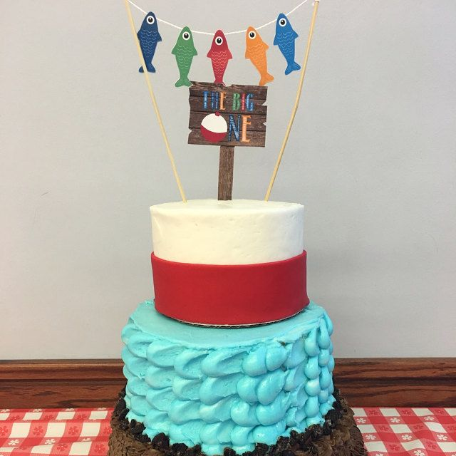 Prime Fishing Cake Topper The Big One Smash Cake Topper With Funny Birthday Cards Online Eattedamsfinfo