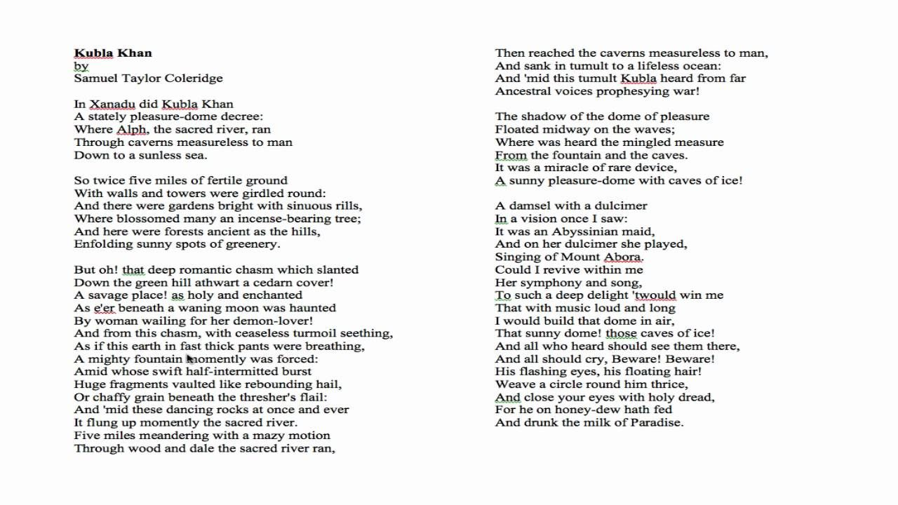 Pin By Paula Stuart On Poetry Samuel Taylor Coleridge Khan Kubla Summary Poem Short And Analysi In Tamil