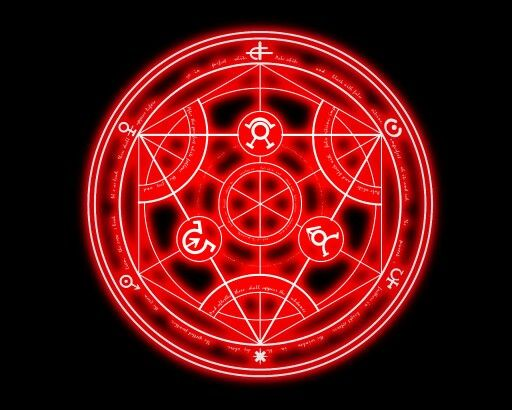 an alchemical circle