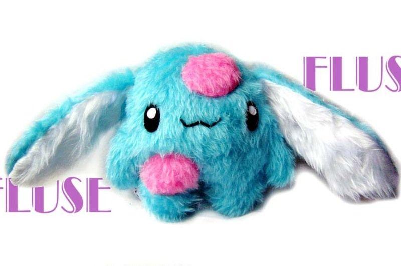 Fluse Hase Stofftier Plusch Bunny Turkis Pink Stofftiere Plusch Tiere