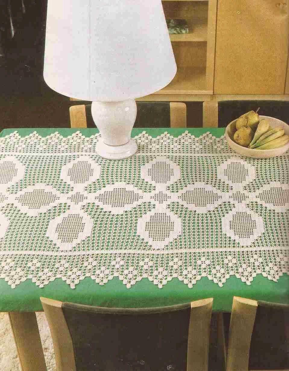 Patrón #283: Tapete rectangular a Crochet o Ganchillo #ctejidas http ...