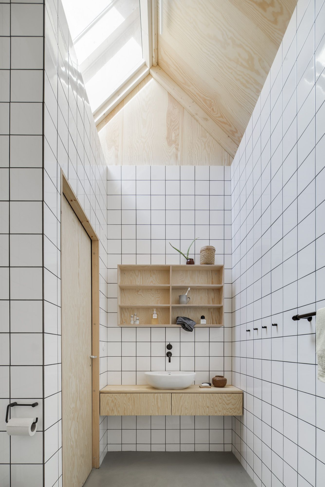 completed in 2016 in linkping sweden images by markus linderoth house for mother is the first house completed by frstberg ling a project started in - Plywood Bathroom 2016