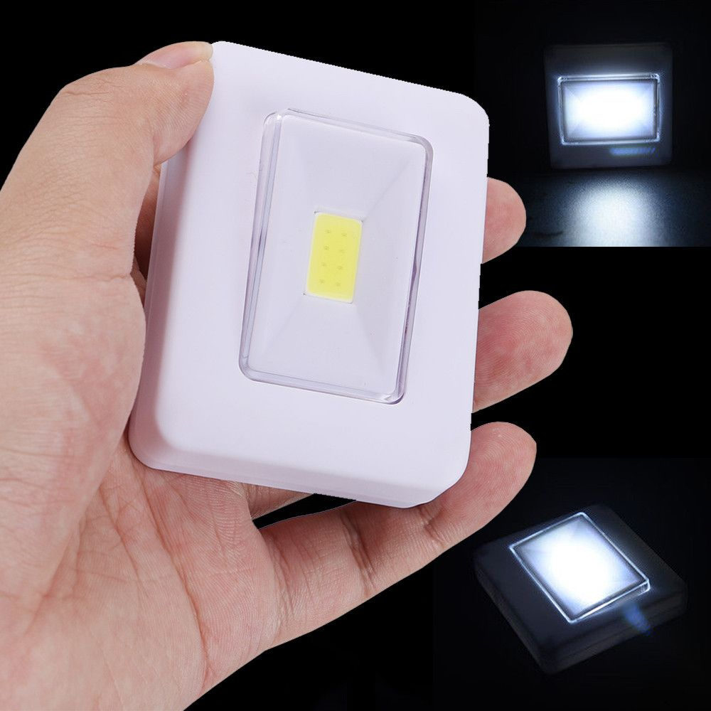 Led Night Light Cob Led Cordless Switch Wall Light Battery Operated Under In 2020 Wall Light With Switch Led Night Light Night Light