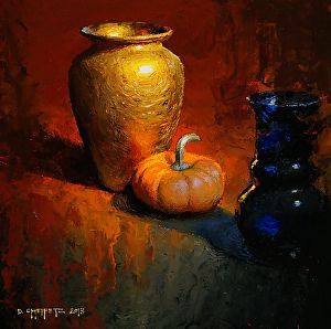 Gold on Warm by David Cheifetz Oil ~ 8 x 8