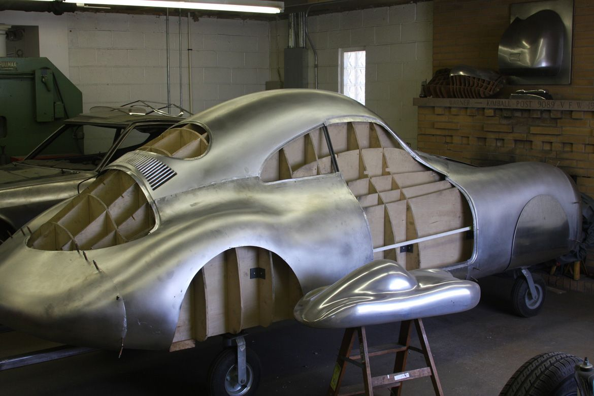 The Most Amazing Automotive Metal Working Project In America Is The Recreation Of An Ill Fated 1939 Porsche Racer In A Old Porsche Metal Working Metal Shaping