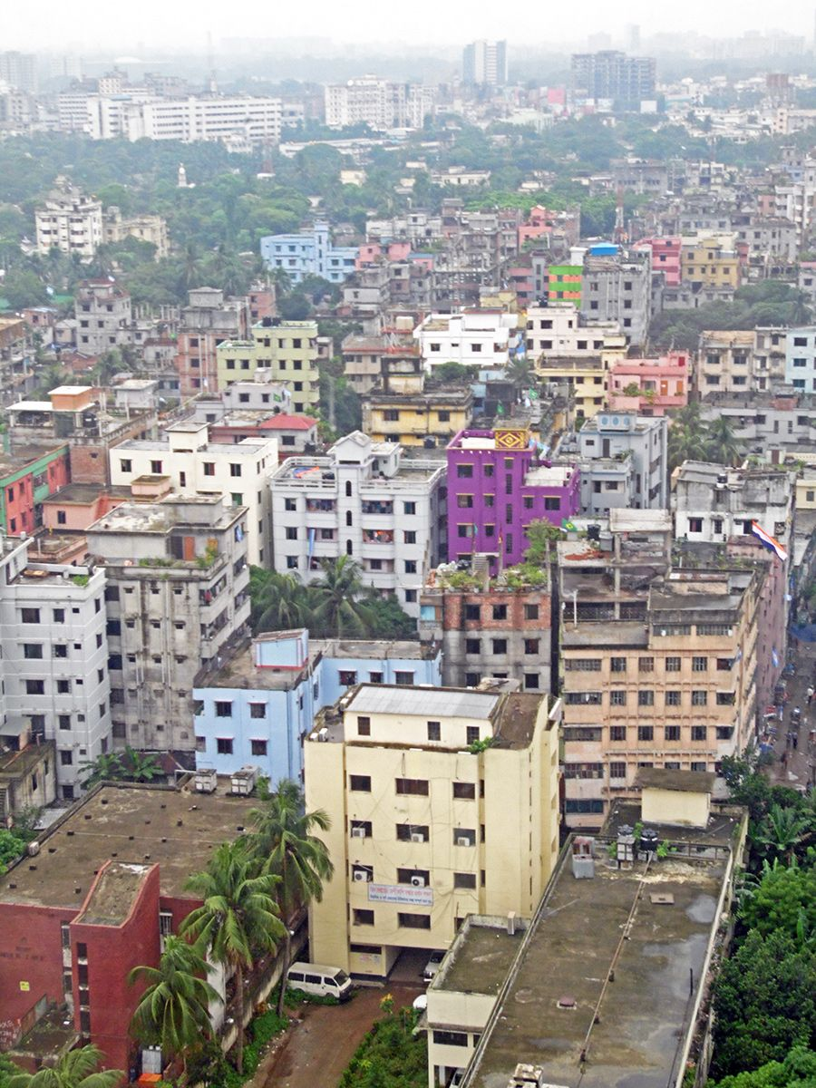 Mohakhali Dhaka Bangladesh City Scene Dhaka Scenery