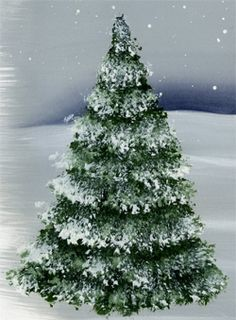 discover ideas about how to draw christmas tree - How To Paint A Christmas Tree