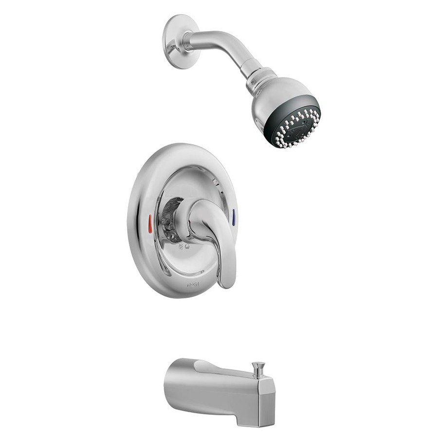 Moen Adler Chrome 1 Handle Watersense Tub And Shower Valve With